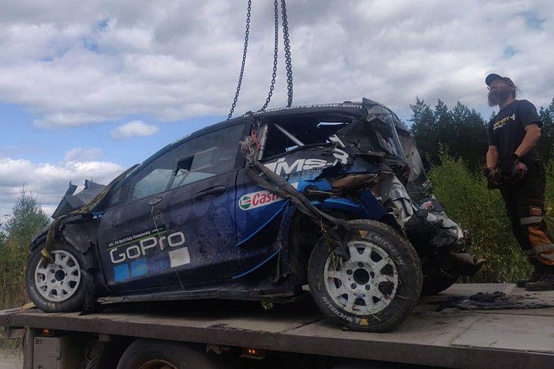 Fotostrecke: Der WRC-Testunfall von Hayden Paddon