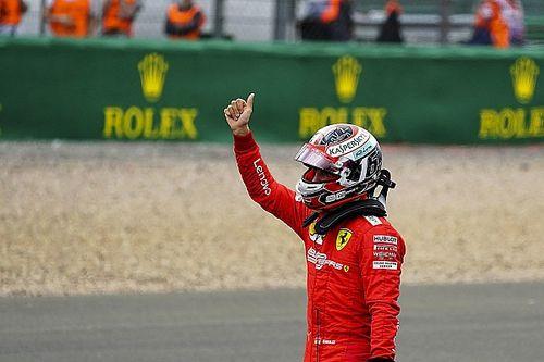 Leclerc, elegido 'Piloto del día' en Silverstone