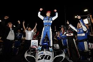 Gateway IndyCar: Sato edges Carpenter in wild, weird race