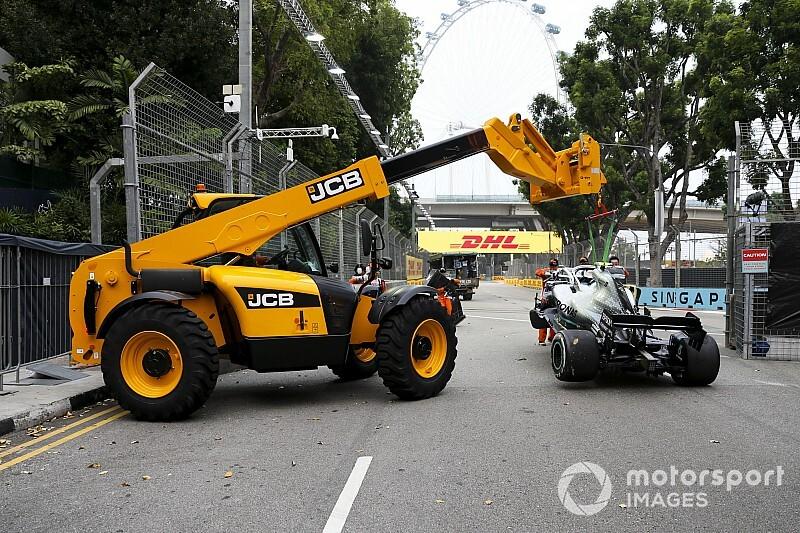 VÍDEOS: Bottas no muro, Ferrari com problemas e Pérez/Magnussen