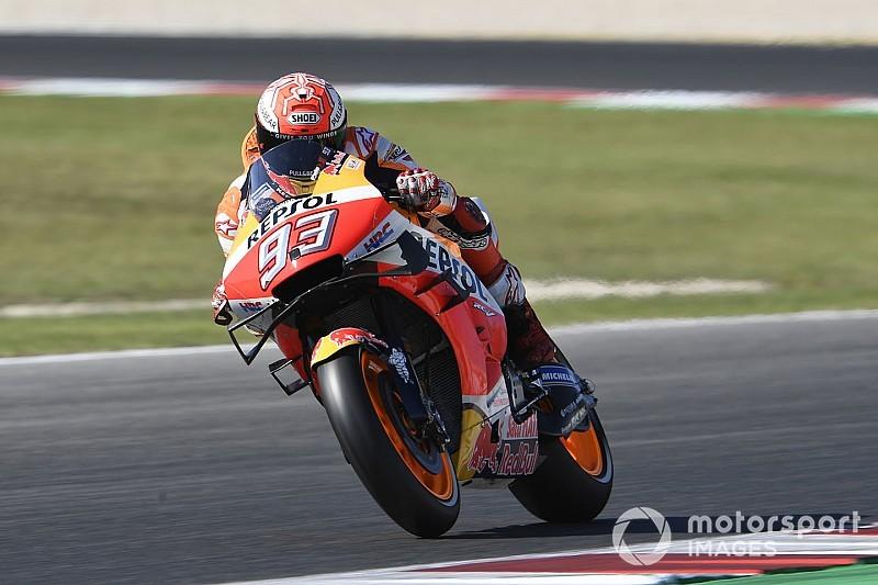 Marquez blijft Viñales voor in warm-up, Rossi tiende