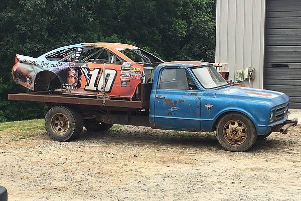 NASCAR Cup Special feature Touring Dale Earnhardt Jr.'s car graveyard - video