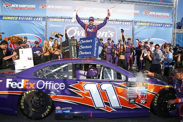 NASCAR Cup Отчет о гонке Хэмлин впервые в сезоне выиграл гонку NASCAR