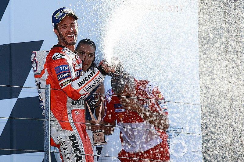 """Dovizioso: """"Ik bekijk het kampioenschap nog steeds per race"""""""