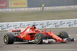 Penampilan perdana Ferrari SF70H di trek