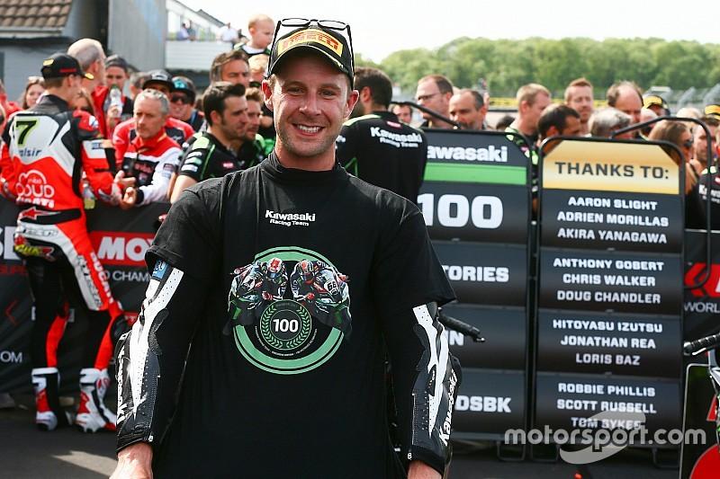 100 victorias de Kawasaki en el WorldSBK