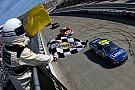 NASCAR Cup Джонсон выиграл гонку NASCAR, закончившуюся крупной аварией