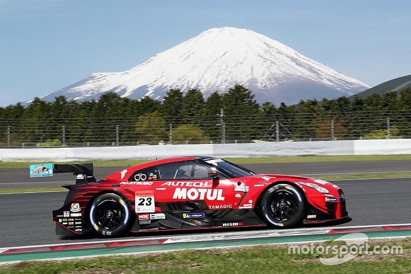 23号車ニスモが首位発進。GT-RとLC500が上位を分ける|スーパーGT富士公式練習