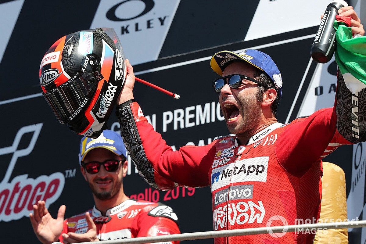 Петруччи одержал в Муджелло первую победу в MotoGP, опередив Маркеса на четыре сотых