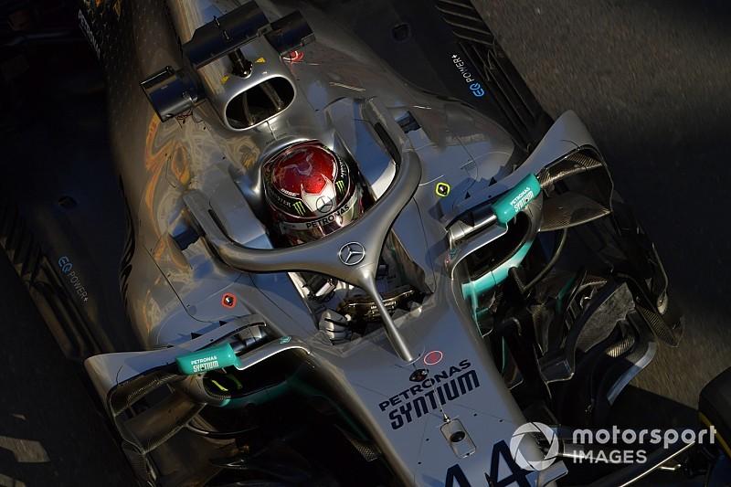 Hamilton dankbaar voor eerste startrij in Baku zonder upgrades