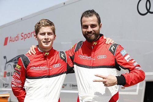 Stefano Comini in pista a Misano questo fine settimana nell'Audi Sport Seyffarth R8 LMS Cup