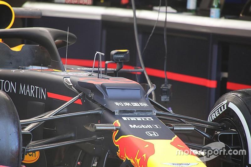 Red Bull: sul vanity panel della RB15 sono comparsi due mini flap arcuati