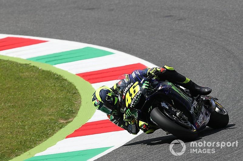 Valentino Rossi nagyon szenved Mugellóban, és lassabb, mint tavaly