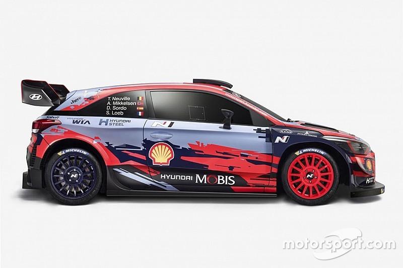 Hyundai: svelata la fiammante livrea delle i20 WRC 2019 di Neuville e Loeb