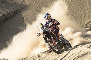 Price, magullado, se coloca líder del Dakar tras la rotura de motor de Brabec