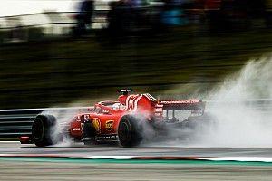 Ferrari y Red Bull prueban los neumáticos de lluvia de 2020