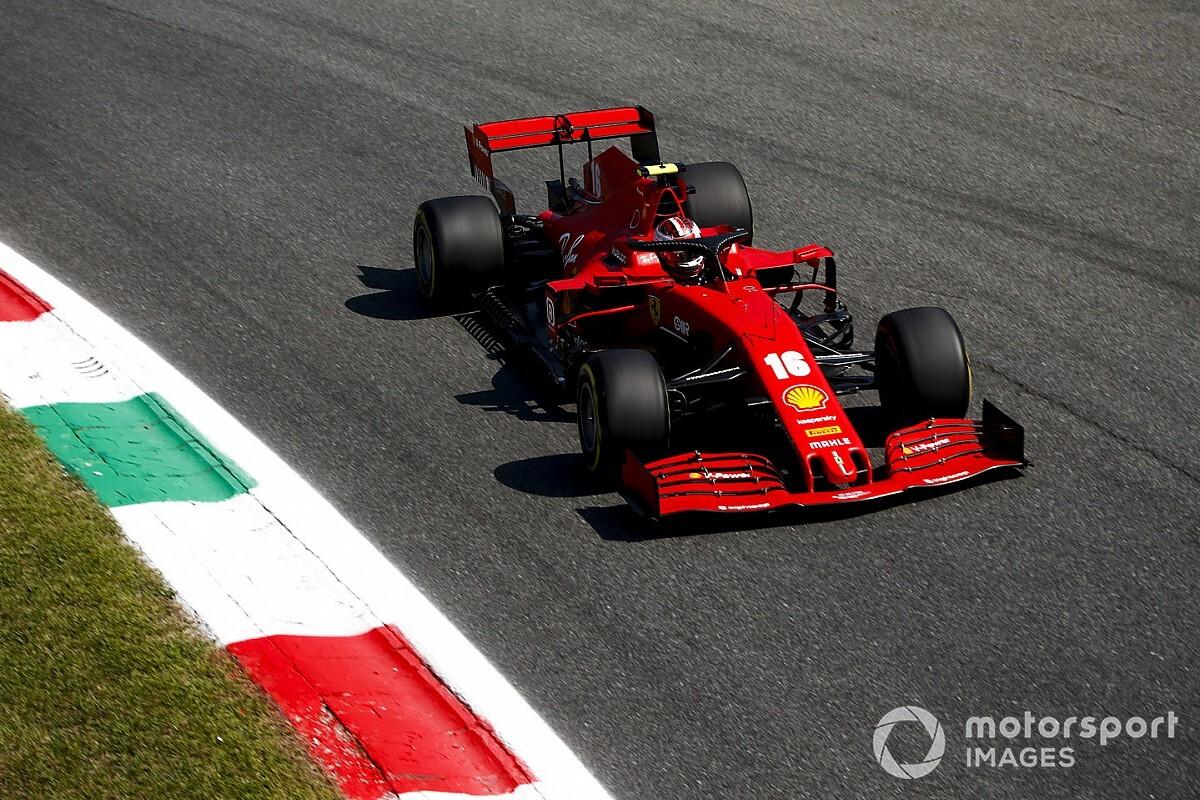 Leclerc heeft nergens last van na crash in Italiaanse GP
