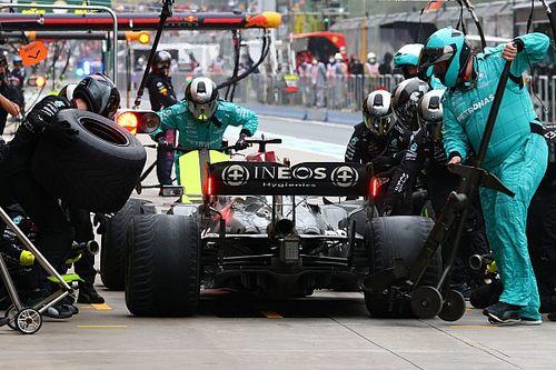 """Pirelli verdedigt pitstop Hamilton: """"Het was echt op de limiet"""""""
