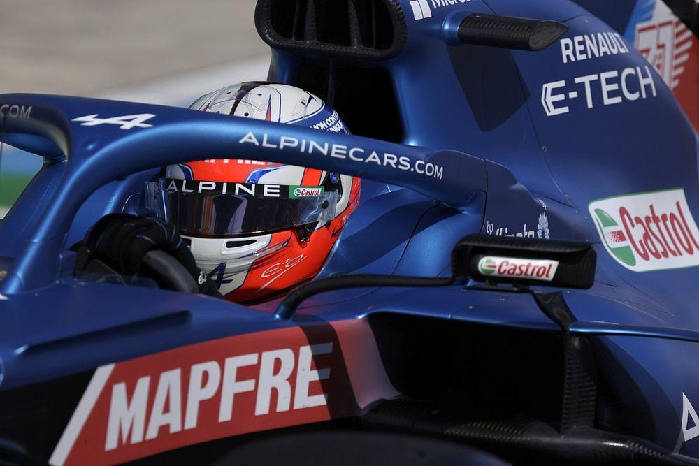 """Un contraste """"délicat"""" entre l'Alpine d'Ocon et celle d'Alonso"""