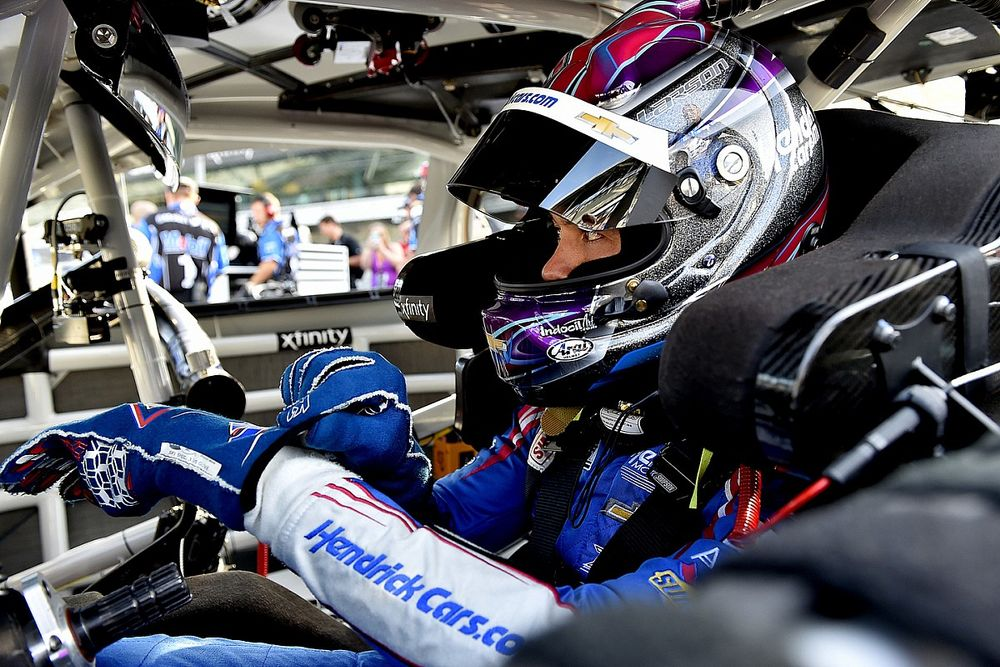 Larson misses out on IMS NASCAR win, but comes away with another prize