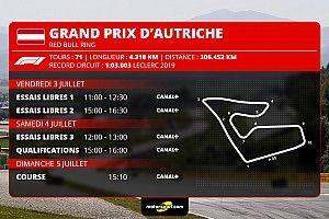 Le programme TV du GP d'Autriche 2020