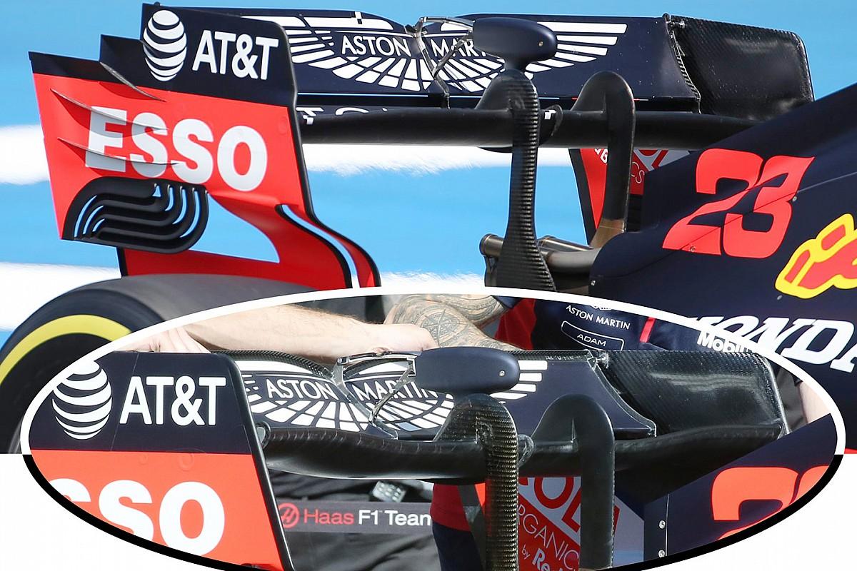 Red Bull: ala a cucchiaio per ridurre il carico posteriore