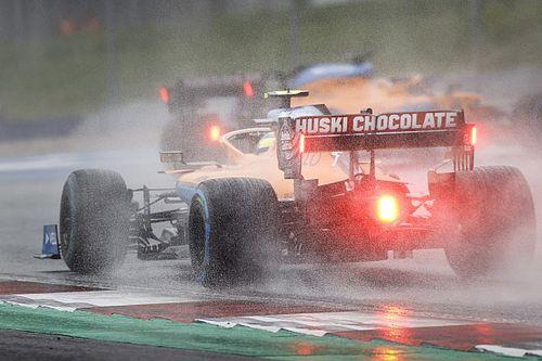 GP Estiria F1: las fotos del histórico sábado de lluvia para Sainz