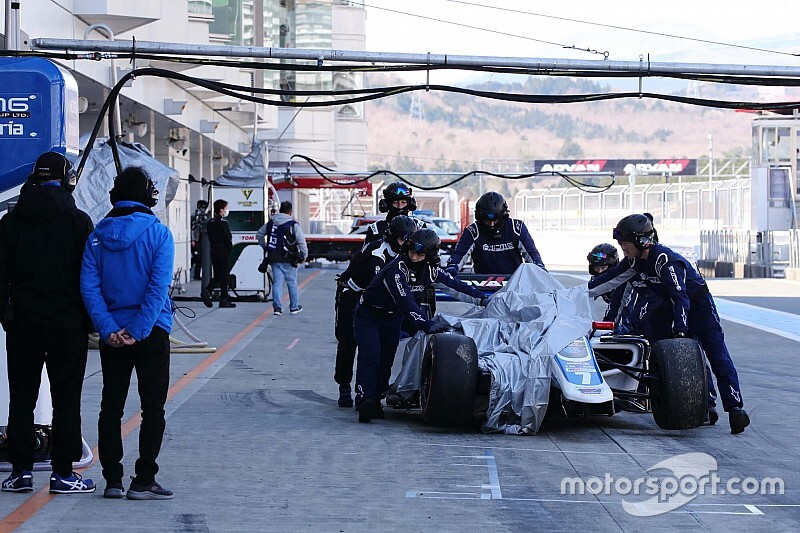 Kobayashi explains Fuji Super Formula test crash