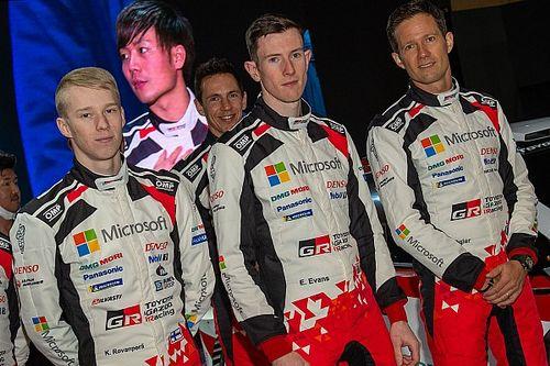 WRC: presentato il team Toyota con Ogier, Evans e Rovanpera