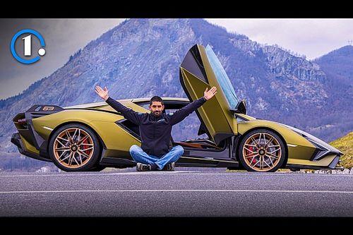 Lamborghini Sian, prova della supercar ibrida da 819 CV