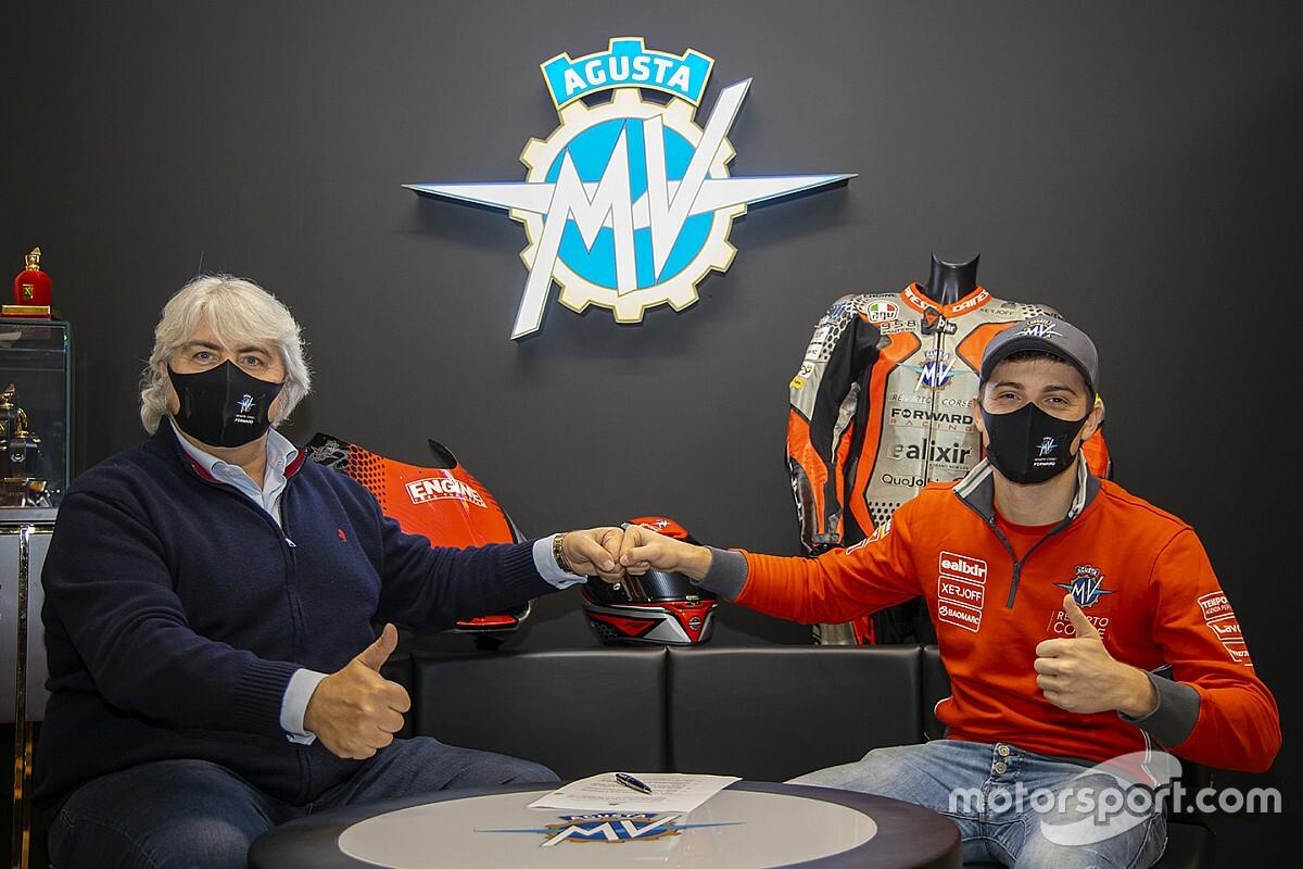 Marcon in Moto2 con MV Agusta nelle gare europee
