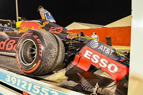 Vídeo: Albon destrozó el Red Bull en Bahrein, y se explicó