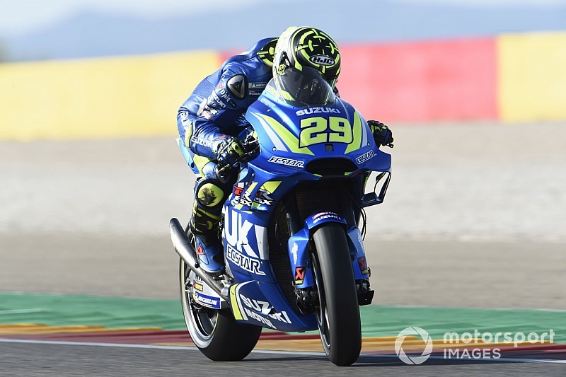 Iannone snelste in warm-up GP van Aragon, crash voor Marquez