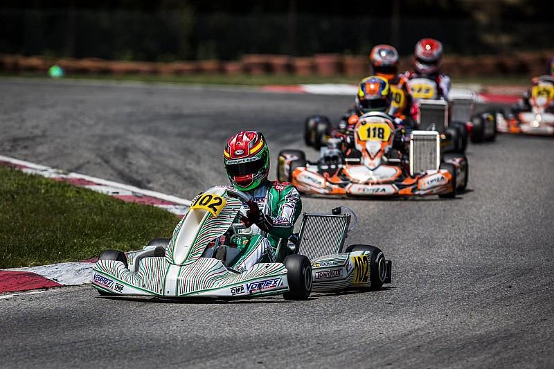 Hiltbrand pierde el liderato del Europeo de karting y Vidales, 5º
