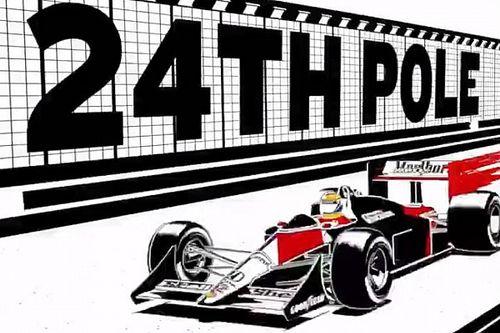 Senna vira anime em vídeo da Honda que celebra conquistas na Fórmula 1