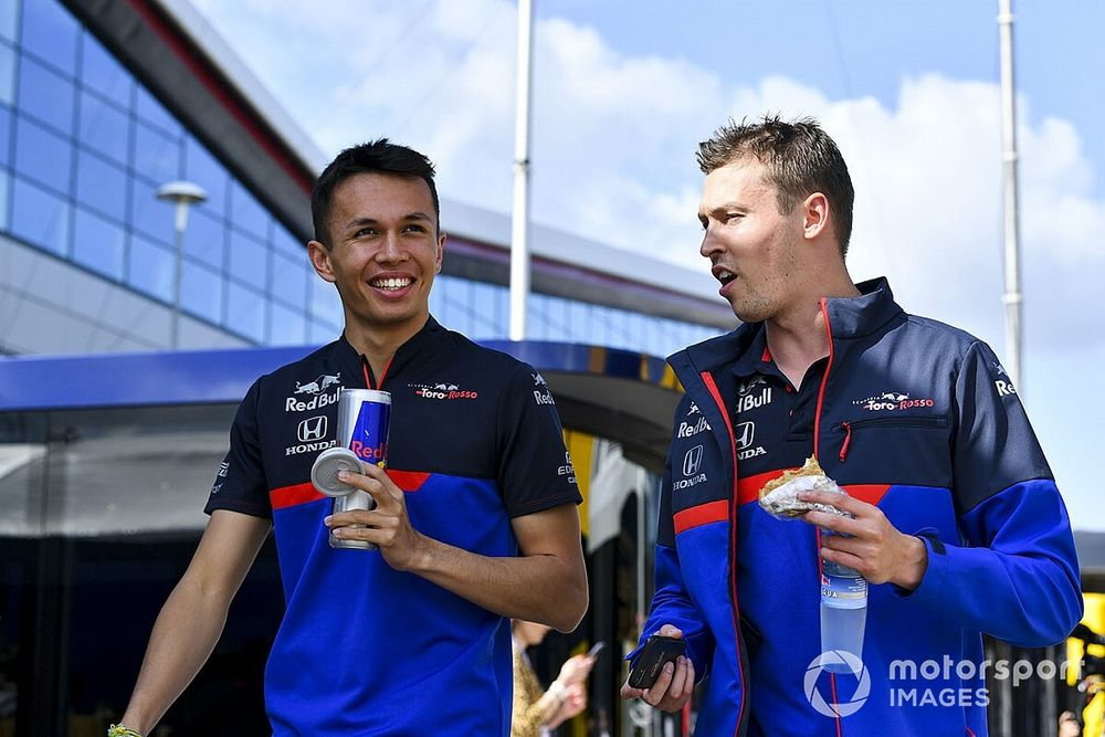 """Kvyat """"wasn't happy"""" to learn of Albon's Red Bull promotion"""