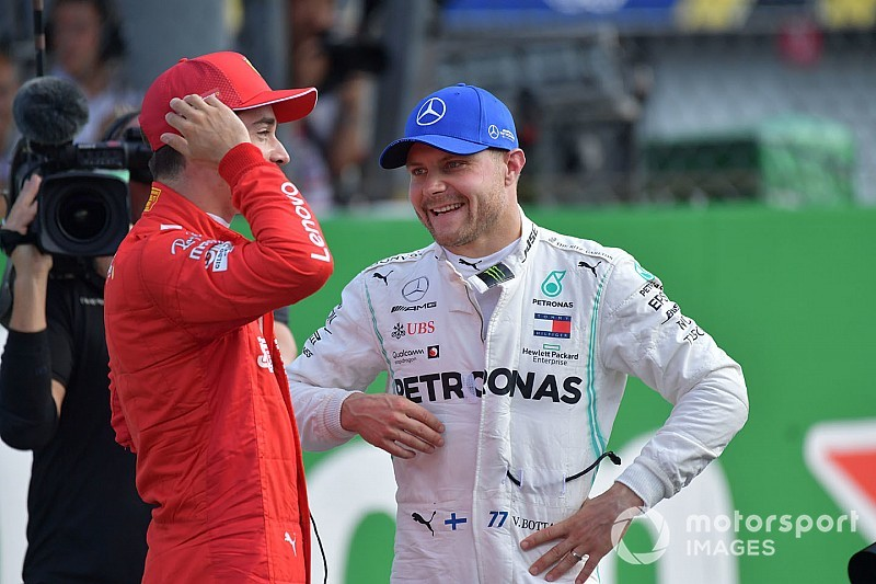 """Bottas: """"Leclerc is een taaie racer voor zijn leeftijd"""""""