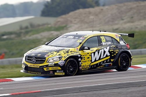 Thruxton BTCC: Morgan wins shortened Race 1 amid tyre drama