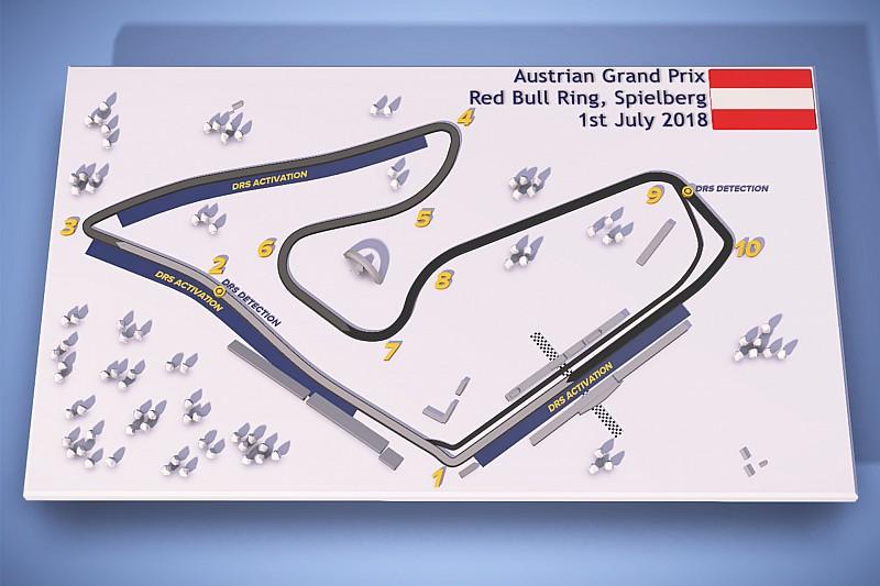 El GP de Austria también contará con tres zonas de DRS
