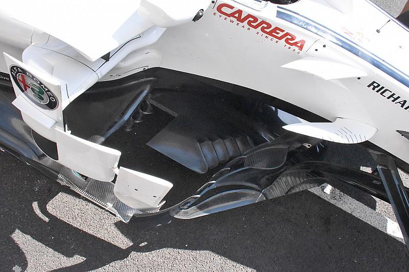 Sauber: importante novità nel fondo della C37 e nella presa dei freni davanti