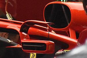 Formula 1 Analisi Ferrari: c'è un flap sul supporto dello specchietto ancorato all'Halo!