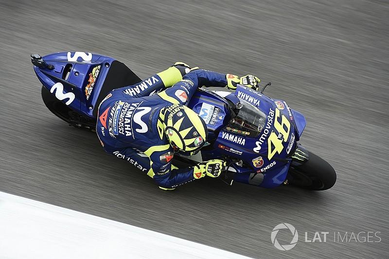Rossi voert eerste MotoGP-sessie in Catalonië aan