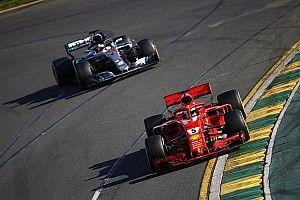 Hamilton no pudo atacar a Vettel por ir limitado con el motor