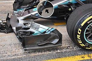 """Mercedes: le """"corna"""" della W09 ora sono diventate arcuate"""