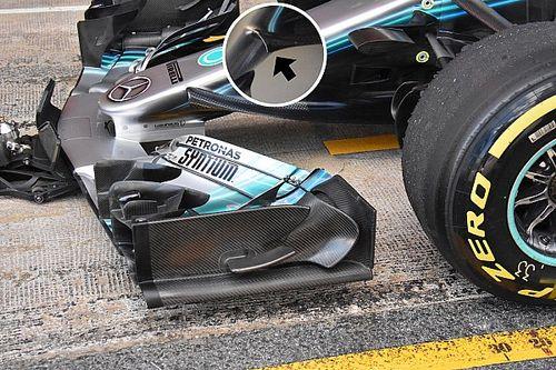Beindult a Mercedes, sorban jönnek az új aeroalkatrészek