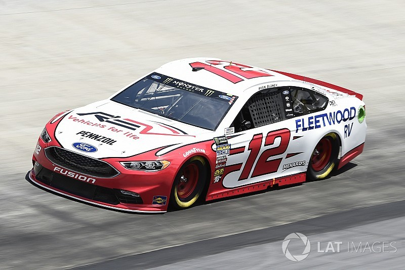 Ryan Blaney leads Cup practice at Bristol; Harvick wrecks