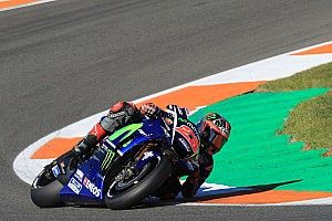 Vinales tops first day of post-season testing, Rossi crashes