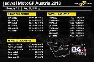 Jadwal lengkap MotoGP Austria 2018