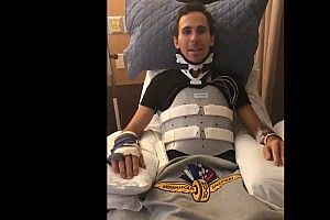 Wickens faz primeira aparição quase um mês após acidente