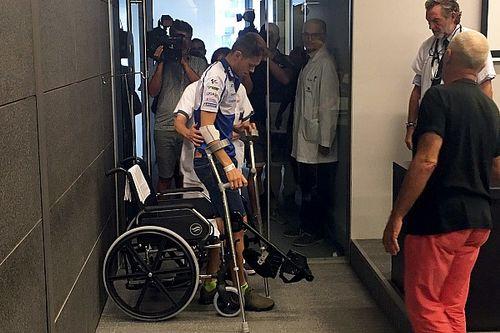 """Silverstone'daki kazada, Rabat'ın bacağı """"bir S gibi kıvrılmış"""""""